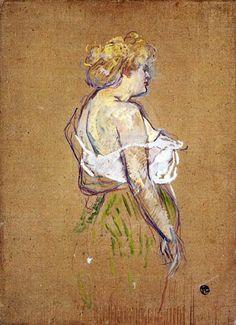 Mademoiselle Lucie Bellanger. Toulouse-Lautrec.
