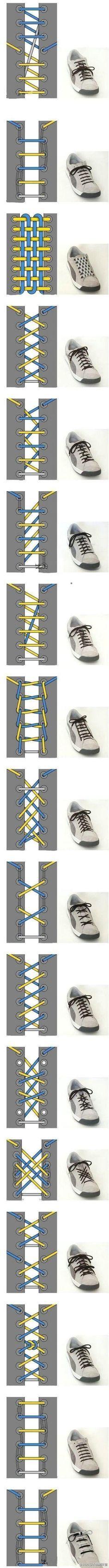 【画像】「靴ヒモの結び方」 色々まとめ