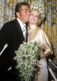 Dean Martin and Catherine Hawn wedding - believed if was Dean's last official wife in his latter years. She was portrayed in the HBO movie as someone who would overplay her part as Dean's wife where, in real life, Dean would be taping a movie & would dictate to director what was best for Dean. photo undated.