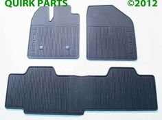 Ford Edge Black Rubber Front Rear All Weather Car Floor Mats Oem New