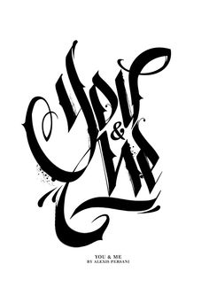 /// Black & white Calligraphy /// on Typography Served