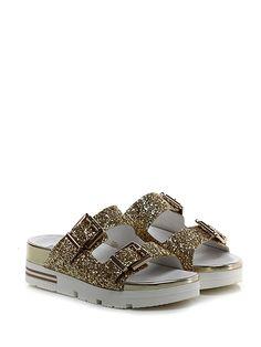 Sandalo basso Oro Tosca Blu Shoes 374cdc2c872