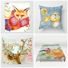 NEW. Cute #animals #winter theme. Don't forget - ends 10/30 Midnight PT. #freeshipping #worldwide on EVERYTHING on my #homedecor store.#walltapestry #throwblanket #pillows #duvetcover  Check more designs at society6.com/julianarw