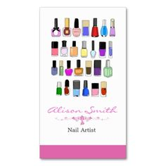 Nail artist business card. This is a fully customizable business card and available on several paper types for your needs. You can upload your own image or use the image as is. Just click this template to get started!