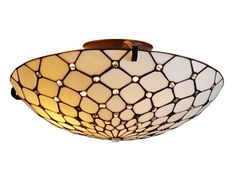 """Tiffany Style Ceiling Lamp Fixture 17"""" wide"""