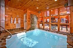 Cabin Rentals in the Smoky Mountains 2 bedroom pool cabin in Gatlinburg INDOOR heated pool want to have my honeymoon bedroom pool cabin in Gatlinburg INDOOR heated pool want to have my honeymoon here Cabins In Gatlinburg Tn, Gatlinburg Vacation, Tennessee Vacation, Cabin Rentals In Tennessee, Mountain Cabin Rentals, Mountain Vacations, Mountain Cabins, Log Cabins, Indoor Swimming Pools