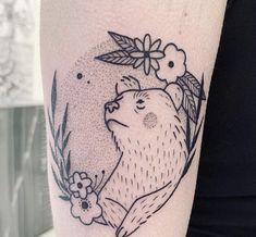 IG: lia_november bear tattooYou can find Bear tattoos and more on our website. Mommy Tattoos, Bear Tattoos, Time Tattoos, Future Tattoos, Animal Tattoos, Body Art Tattoos, Tattoo Drawings, Ankle Tattoos, Arrow Tattoos