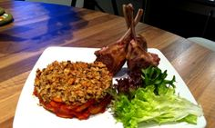 Celina Mann's Butternut Squash Bake with Crumble Topping and Lamb Cutlets