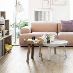 Muuto Around small and large coffee table with Stacked and Muuto Sofa