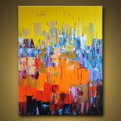 Original abstract modern art oil on cavas. Love the colors and warmth!