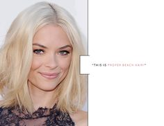 Jaime King -- blunt shoulder length cut styled with lots of texture