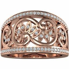 Rose gold ring | kinda dont want a traditional wedding ring. this is beautiful