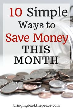 Are you looking for ways to cut your spending and save money this month? Check out this list of money saving tips that can help you save over $100 a month to put towards paying off debt or savings. #savemoney #money #moneytips #makemoney #savingmoney #moneysavingtips #frugaltips #frugallifestyle #frugal