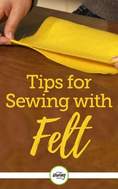 Ashley Hough provides helpful tips and techniques for sewing with felt fabrics. See how felt is one of the easiest fabrics to work with. Eliminate potential sewing mistakes by learning how to properly handle this specific type of fabric. Advance in your sewing skills today and check out our videos on working with different types of fabrics!