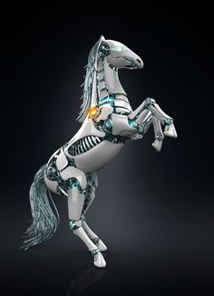 [find artist to credit] robo-horse insp for future! Animal Robot, Cyberpunk Character, Anime Weapons, Robot Design, 3d Design, Robot Concept Art, Futuristic Art, Fantasy Creatures, Inventions