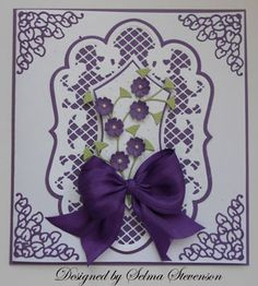 Marianne Dies Gallery   Selma's Stamping Corner: Pretty Marianne Design Doily