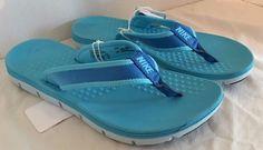 Nike Womens Flex Motion Sandals Flip Flops Thong  Size 7 U.K. 4.5 Blue #Nike #Sandals