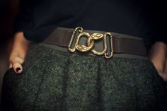 love belts that hook in the front. all mine of this kind are from my mom's closet, which makes me love them even more.