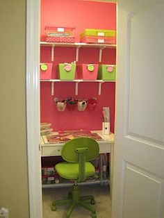 Ideas, Lists, and Bargains: Idea: Craft Room in a Closet!