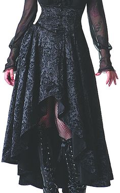 A Ghost Between Us Skirt gothic victorian steampunk womens dresses gowns- infectiousthreads
