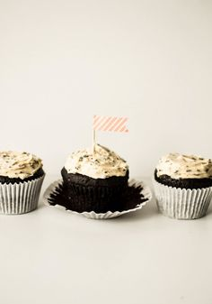 Fresh Mint Chocolate Chip Cupcakes | butter and brioche