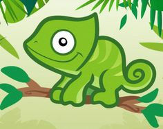 How to Draw a Chameleon for Kids - Animals For Kids
