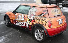 Franchise Little Caesers Wrap, Mini Cooper Vehicle Wrap