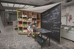 Stalls for organic food sale