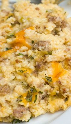 Sausage and Grits Breakfast Casserole