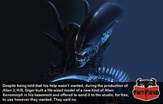 H.R. Giger was Screwed Over by 'Alien 3' - http://www.factfiend.com/h-r-giger-was-screwed-over-by-alien-3/
