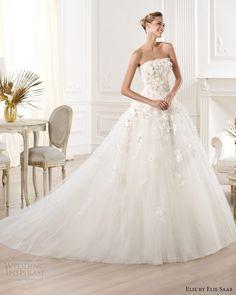 elie by elie saab for pronovias 2014 mensa strapless wedding dress