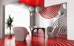 Red !!! Rouge DECOR