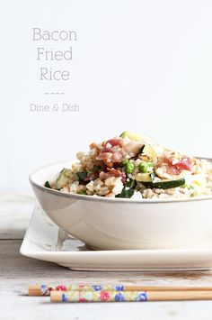 Two Dilemmas {Recipe: Bacon Fried Rice} - dineanddish.net