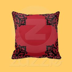 Red & Black American MoJo Pillow