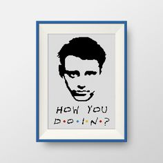 How you doin? Friends cross stitch pattern, PDF counted cross stitch pattern, Friends TV show, P140 by NataliNeedlework on Etsy