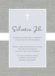 Baptism or First Communion Invitation