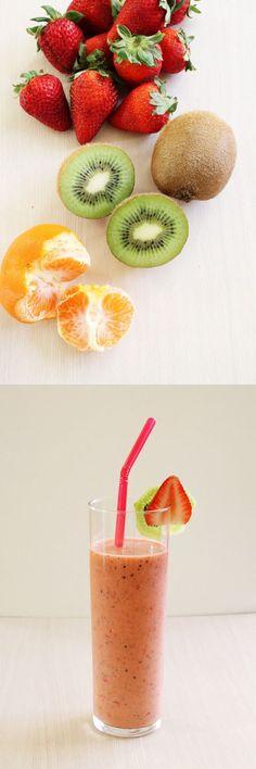 Strawberry Kiwi Smoothie Recipe | Summer beverage recipes