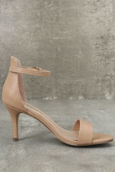 1ac6c3cb201 Making My Way Nude Ankle Strap Heels