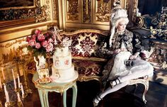 Ymre Stiekema as Marie Antoinette by Giampaolo Sgura for Vogue Nippon