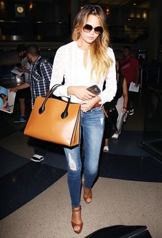 The Outfit Formula Chrissy Teigen Wears on Repeat via @WhoWhatWear