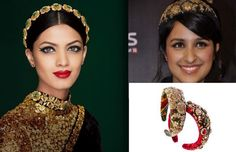 Engagement Hairstyles for Your Wedding - Sabyasachi Hair Bands #wedmegood #hair #hairstyles