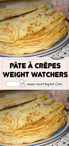 Low Calorie Recipes, Diet Recipes, Healthy Recipes, Crepes Ww, Weigh Watchers, Weight Watchers Desserts, Batch Cooking, 200 Calories, Clean Recipes