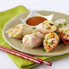 Thai Chicken Salad Cabbage Spring Rolls