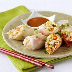 Thai Chicken Salad Cabbage Spring Rolls