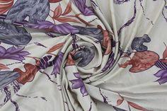 Vintage sari Vintage Silk Fabric SariPrinted by Thepuranabazaar