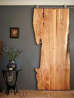 DIY Interior DIY Tür, Innenarchitektur Landscaping Ideas For the person who wants to give their gard House Design, House, Interior, Maine House, Live Edge Wood, House Interior, Modern Decor, Doors, Barn Door