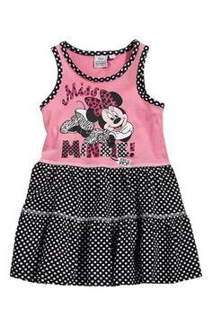Mega lækre Disney Minnie Mouse Kjole Rosa Sort Disney Minnie Mouse Kjoler til Børn & teenager til hverdag og til fest
