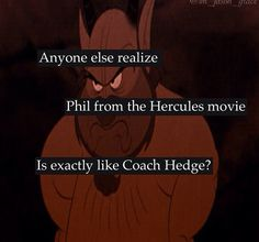 Finally someone noticed!<<<EXCUSE YOU!!!!! HERCULES WAS MADE BEFORE PJO! Do not bring your idiocy into our fandom PUHLEASE! Gods Almighty....he was the inspiration for Gleeson Hedge....