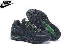 pretty nice f2b7b 998c5 Mens Nike Air Max 95 Running Shoes Total Black Fluorescent Green,Nike-Air  Max