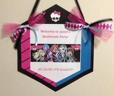 Monster High Party Door Sign via Etsy